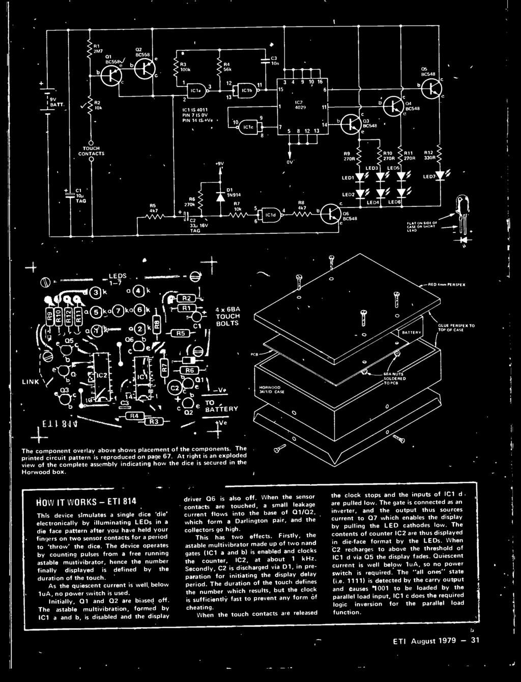 Electronics Today E R Ocac M1 F010 F1111f Ni Fff Htifclr F Lm Bunn Hg Wiring Diagram At Right Is An Exploded View Of The Complete Assembly Indicating How Dice Secured