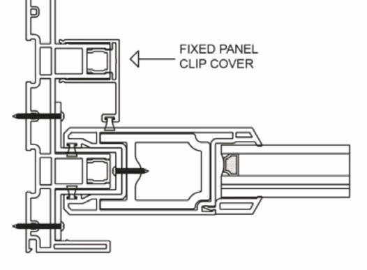 Snap the fixed panel clip cover (Item 6) in to place covering the open frame channel (Figure 4c). 7. Lock the operating panel to the frame jamb with the mortise lock cams adjusted all the way in.