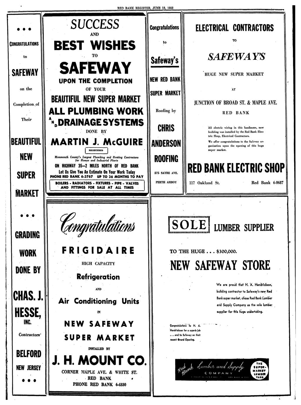 Red Bank Register 10 Cents Pdf Starter And Anti Creep Circuit Wiring Diagram For 1953 Studebaker Champion Commander June 19 1952 S Uccess Congratulations Electrical Contractors To