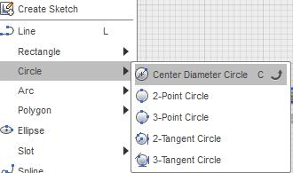 Circles Lines and points only had a single option for each. When you select the circle menu you will find 5 options hiding underneath.