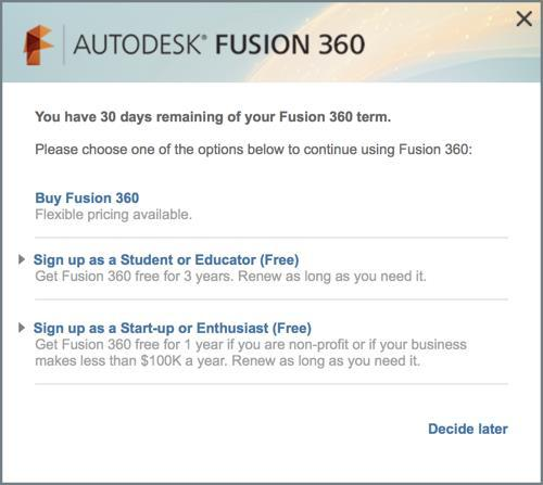Appendix A: How to download Fusion 360 for your computer We assume that you have a windows computer for this.