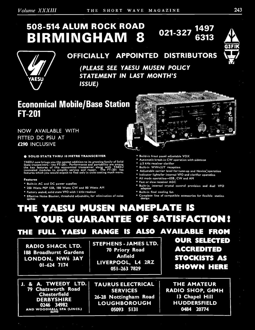 Tn E 3 Thirty Pence Vol Xxxiii No 5 Lju For The Radio Amateur Shure Model M62 Simple Audio Level Controller Circuit Design Performance And Portability Are Among Key Features Of This Economical Transceiver Along With Yaesu Innovated Volume