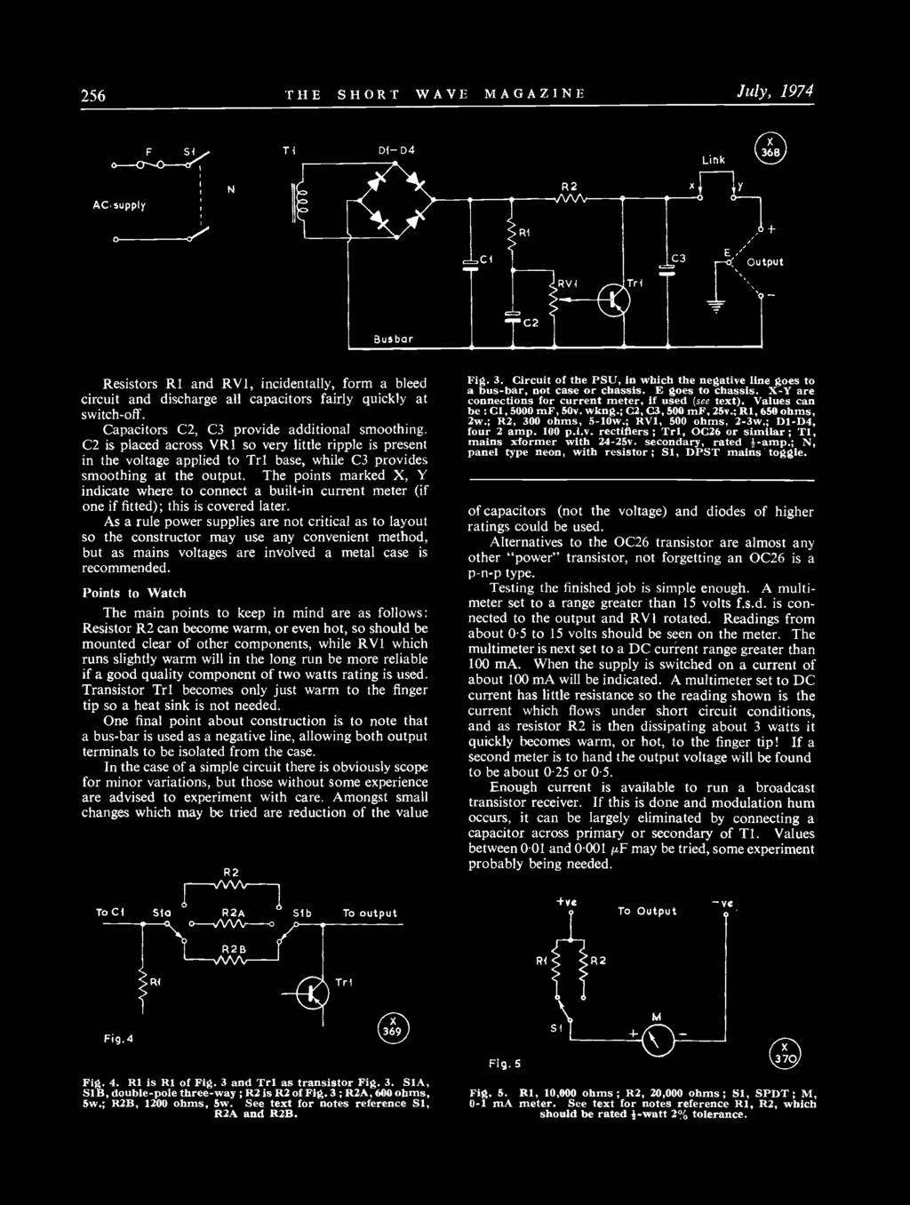 For The Radio Amateur And Pdf Dpdt Relay Schematic Symbol Telecom Relays 256 Short Wave Magazine July 1974 Resistors R1 Rv1 Incidentally Form