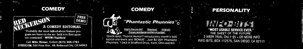 "Illinois 60606-7095 ""Phntstic Phunnies' Highly Respected! Hilrious! Originl! Proven worldwide udience builder! 'Quick- quip,' Topicl Humor!"