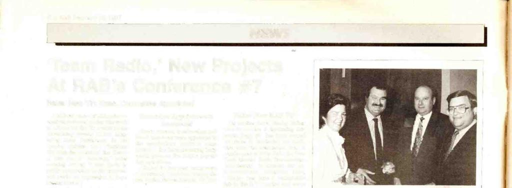 6 RR Februry 13, 1987 NEWS `Tem Rdio,' New Projects At RAB's Conference #7 Bker New VP; Exec.