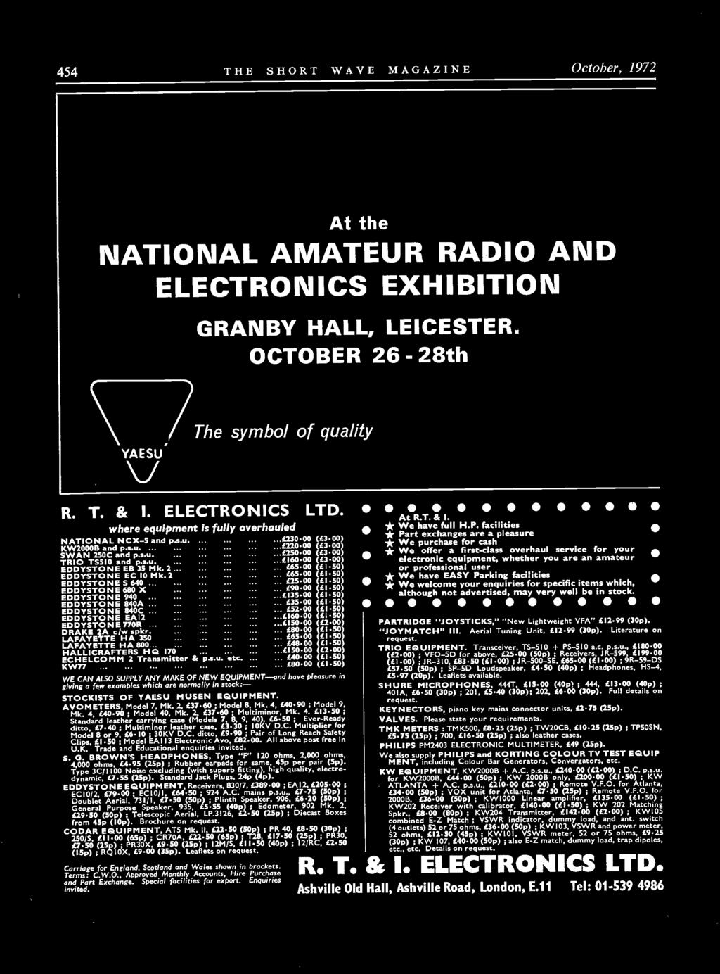 Vol Xxx October Number 8 Orld Wide Communication Pdf Tx2 Winch Wiring Diagram 2 2950 50p Telescopic Aerial Lp3i26 L250