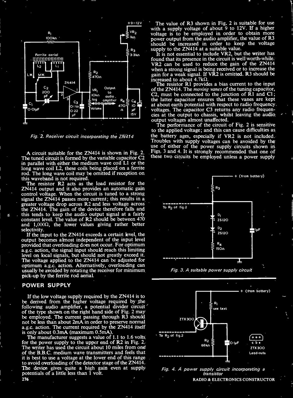 20p December 1973 Wyvern The L30 Watt Stereo Amplifier Also Dire G838 Owner39s Club O View Topic Wiring Diagram When Circuit Is Tuned To A Strong Signal Zn414 Passes More Current This