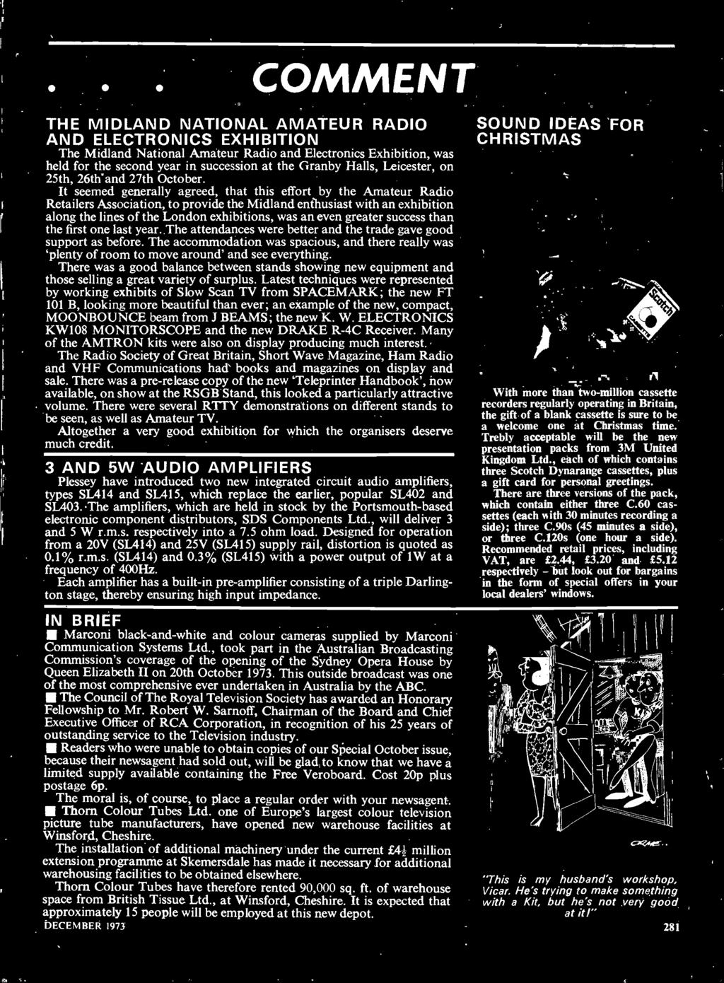 20p December 1973 Wyvern The L30 Watt Stereo Amplifier Also Dire G838 Owner39s Club O View Topic Wiring Diagram Accommodation Was Spacious And There Really Plenty Of Room To Move Around