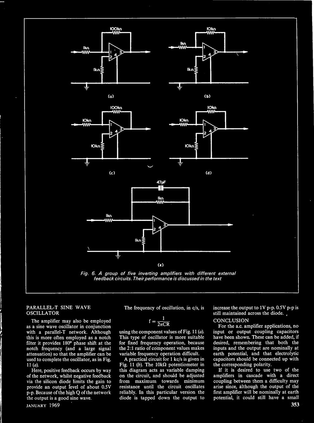 Vol22 No6 January A Data Publication Radio Television Secret Code Lock Circuit Amplifiercircuit Diagram Oscillator As In Fig Ll4 Here Positive Feedback Occurs By Way