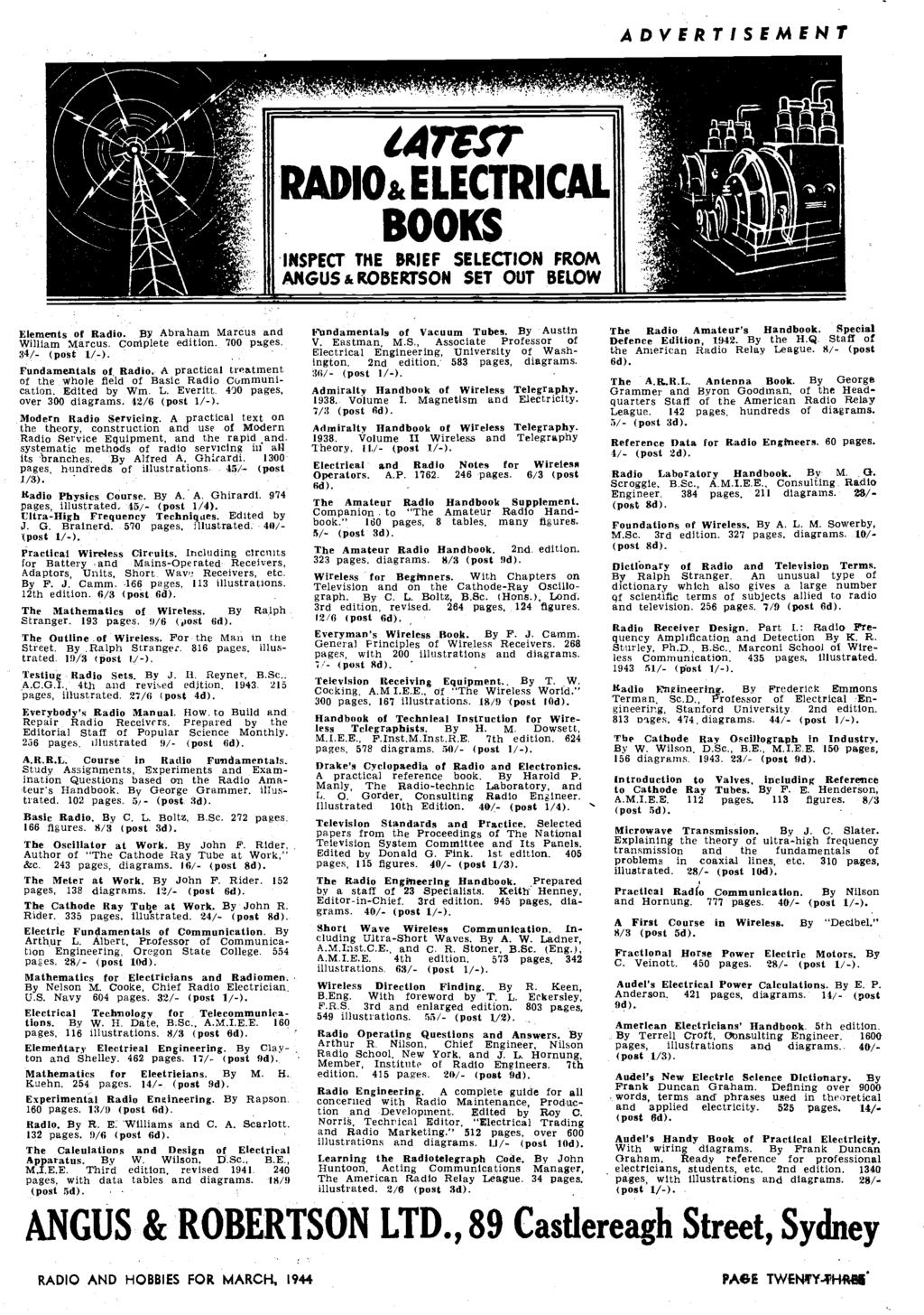 Radio Hobbies Sound On Film A New Series In Australia And Ecnico Robertson Ballast Wiring Diagram Advertisement Ca Io Electrical Boo Inspect The Brief Selection From Angus Set Out