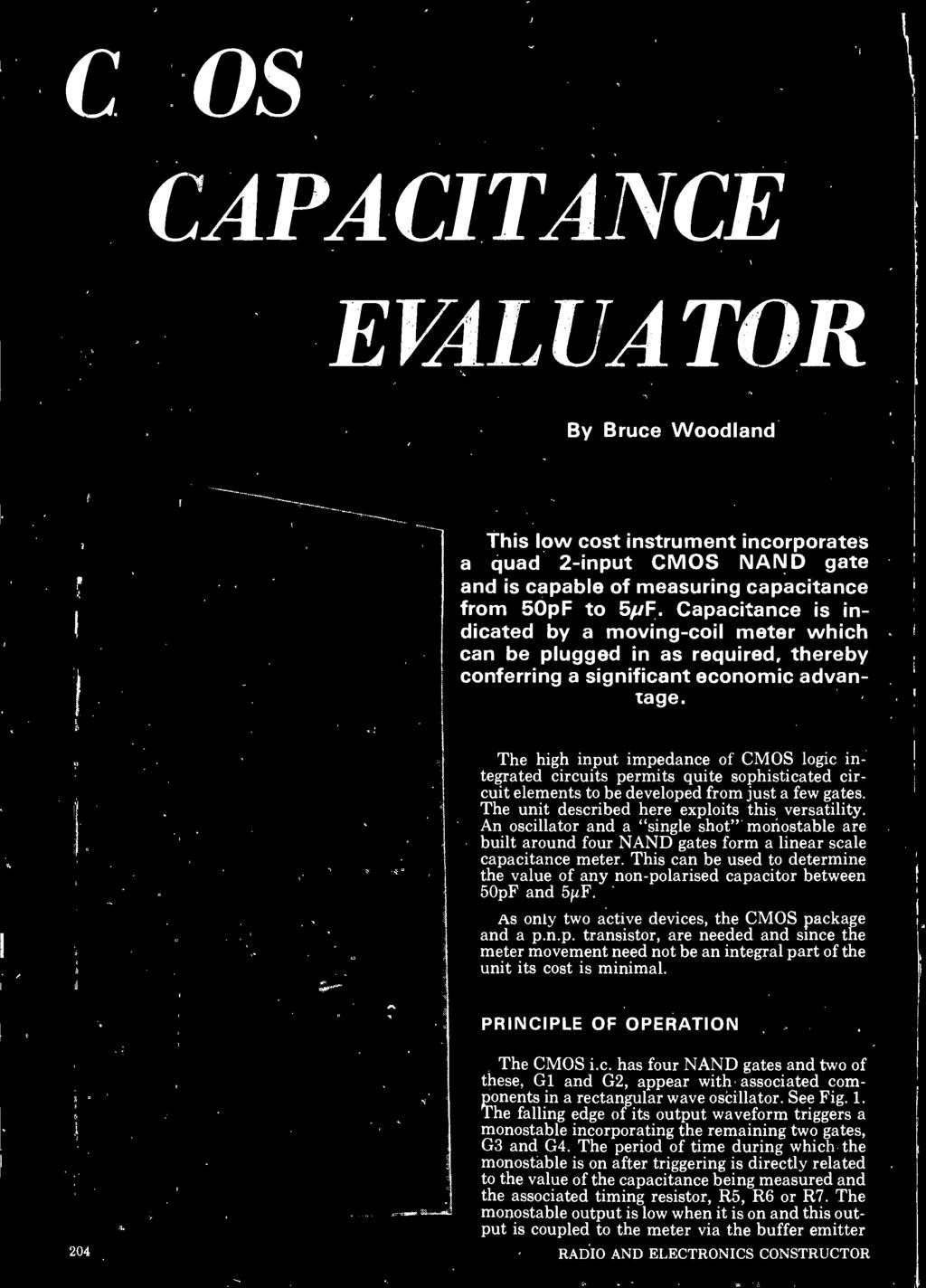 Cmos Capacitance Evaluator By Bruce Woodland Pdf Wiring Diagram For Ec2 With Ls1 Coils This Can Be Used To Determine The Value Of Any Non Polarised Capacitor Between 50pf