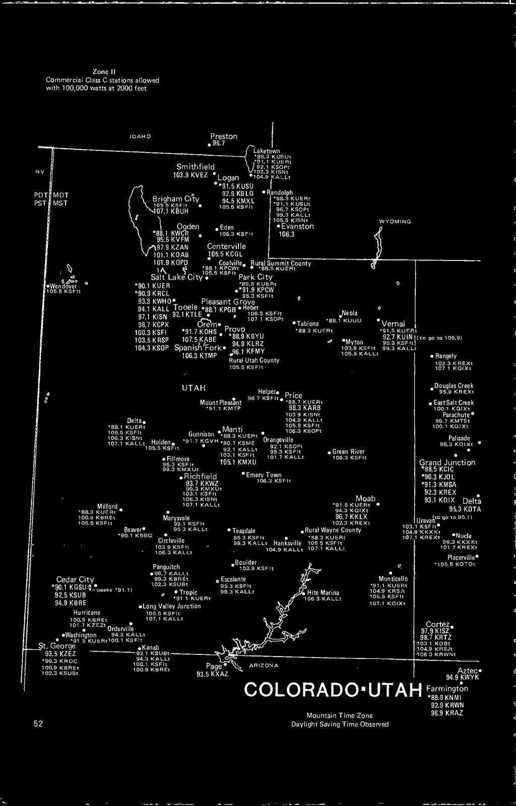 FM ATLAS  and Station Directory  to the  of the  United