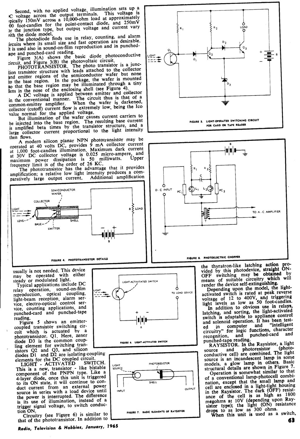 January 1965 Radio 26 Vol No 10 Television Com Buy Ac90 1000v Induction Type Ac Circuit Detector Voltage Second With Applied Illumination Sets Up A Ic Across The Output