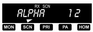 CHANNELSCAN Press the SCN button to start or stop scanning channels in the scan list. Scan operation occurs only while the radio is not transmitting.