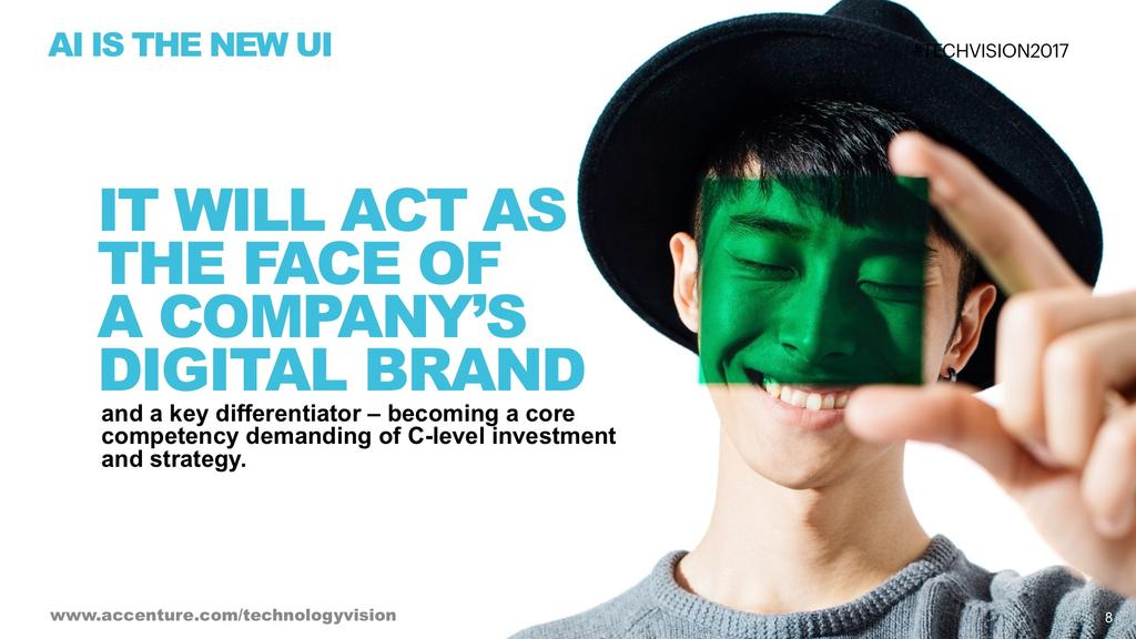 Al IS THE NEW UI IT WILL ACT AS THE FACE OF A COMPANY'S DIGITAL BRAND and a key differentiator -