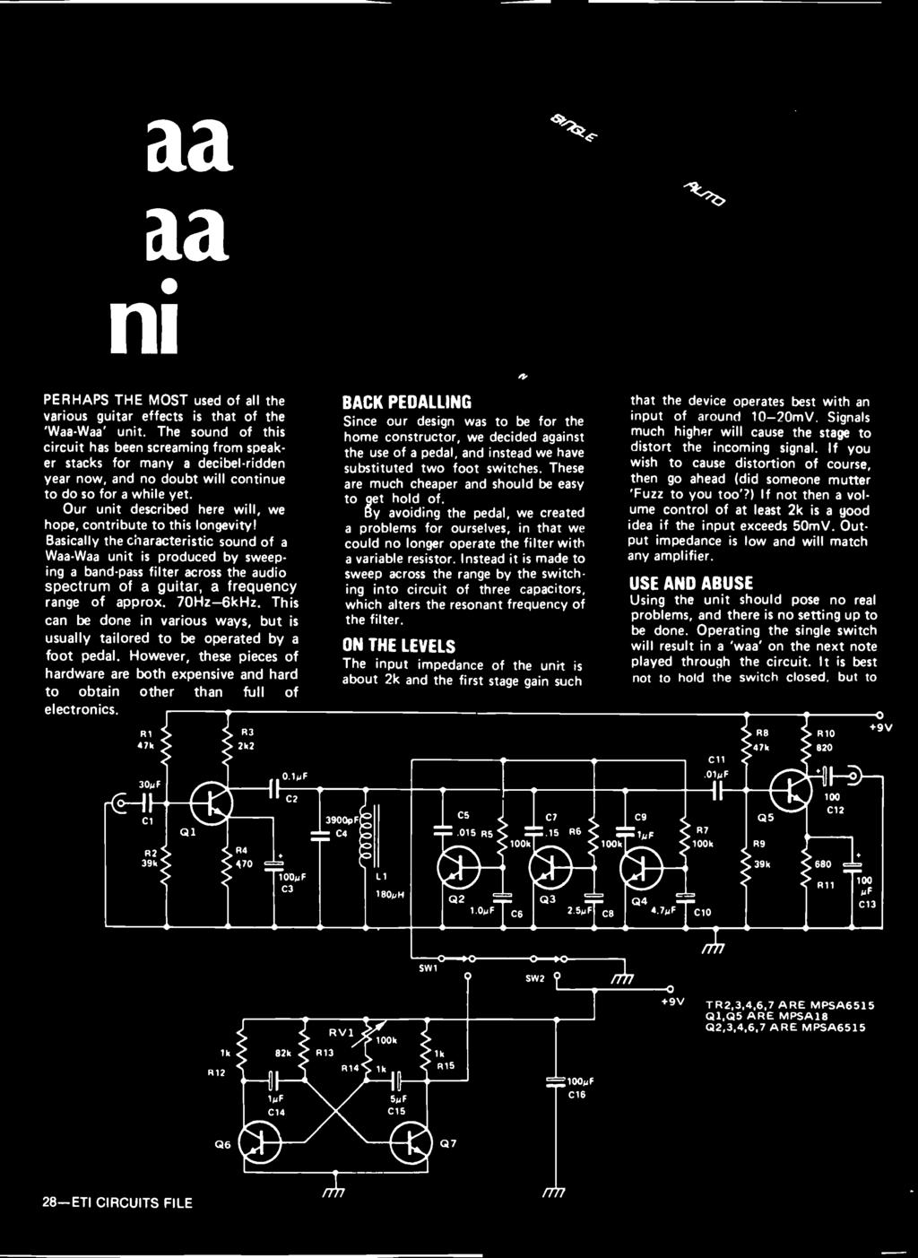5395 Aspects Audio Design A Large Articles Tackle Are How Frequency Modulationfm Amplifiercircuit Circuit Diagram Our Unit Described Here Will We Hope Contribute To This Longevity