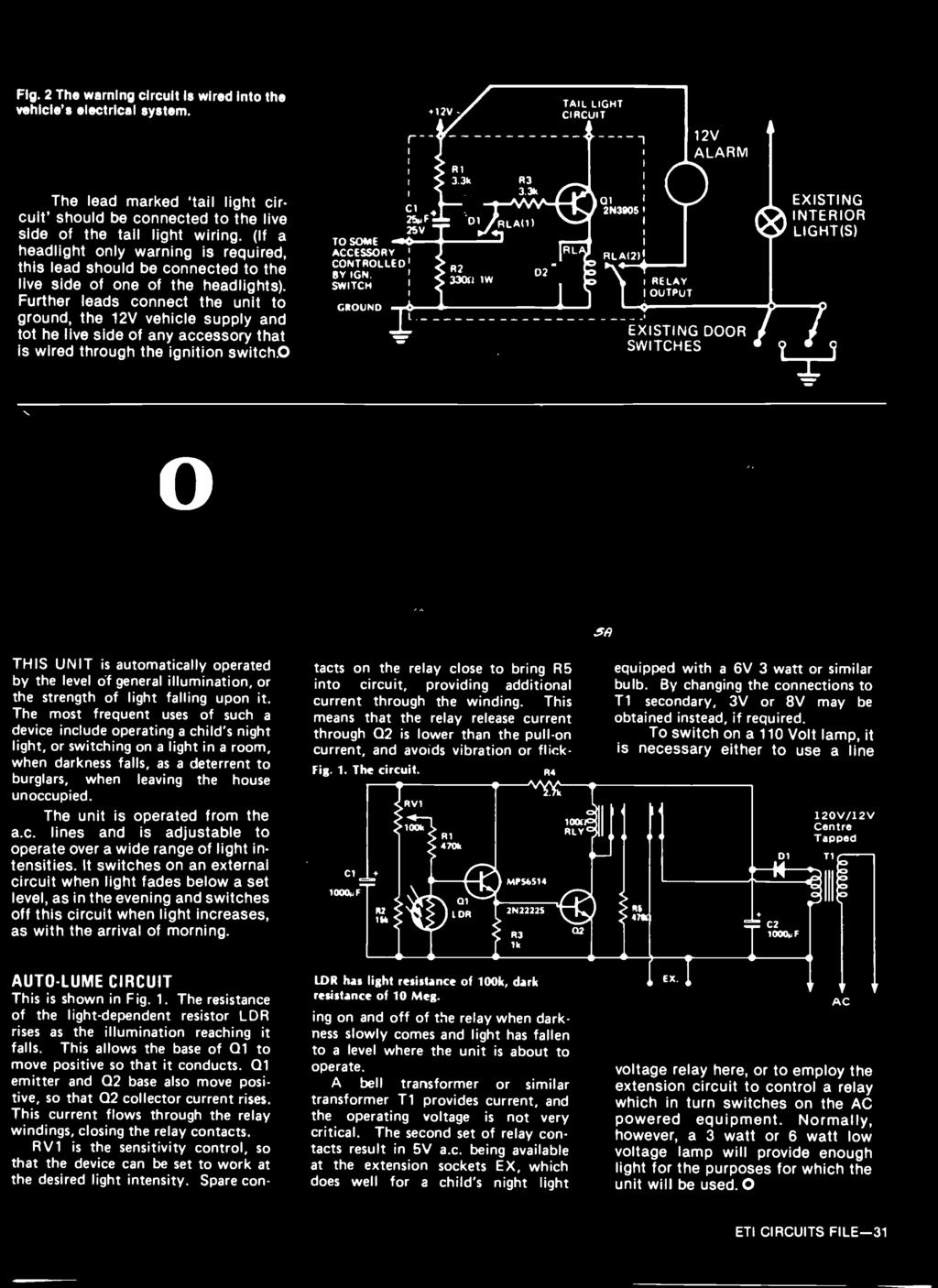 5395 Aspects Audio Design A Large Articles Tackle Are How Adding Hysteresis To Comparator Circuit Basiccircuit Further Leads Connect The Unit Ground 12v Vehicle Supply And Tot He Live