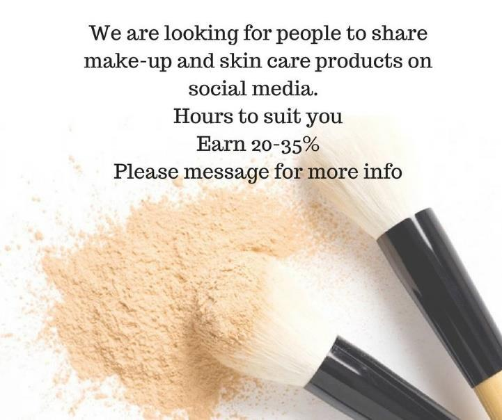 Work from your phone / laptop to fit around your other commitments No experience necessary Must be 18+ Commission rate up to 35% FREE to join Please message me for MORE INFO