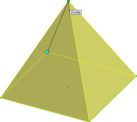 Create a plane 100mm above the Top plane. Creating sketch As the pyramid forms a point at the apex, we will use point to create the top profile.