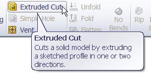 Base Flange Method - Magazine File Select Extrude Cut from the