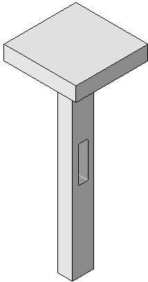 Structural Columns and Walls 4. Create the sketch shown. Draw a rectangle. The rectangle is 2 6 x 8.