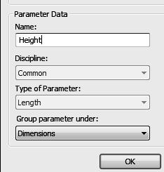 Revit Structure Basics: Framing and Documentation 24. Select the Add parameter option from the Label drop-down list. 25. Set the Name to Height. Enable Type. Press OK. 26.