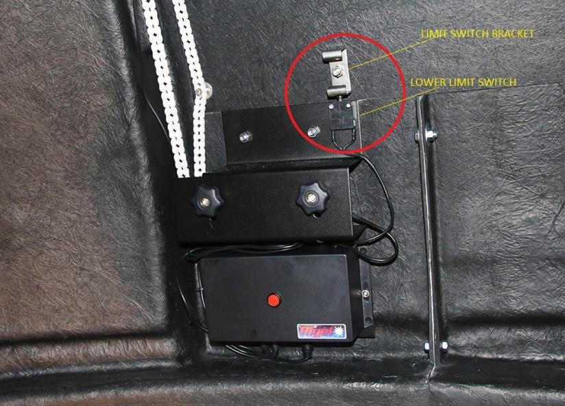 The lower limit switch is already installed to the shutter motor unit, as shown in the picture.
