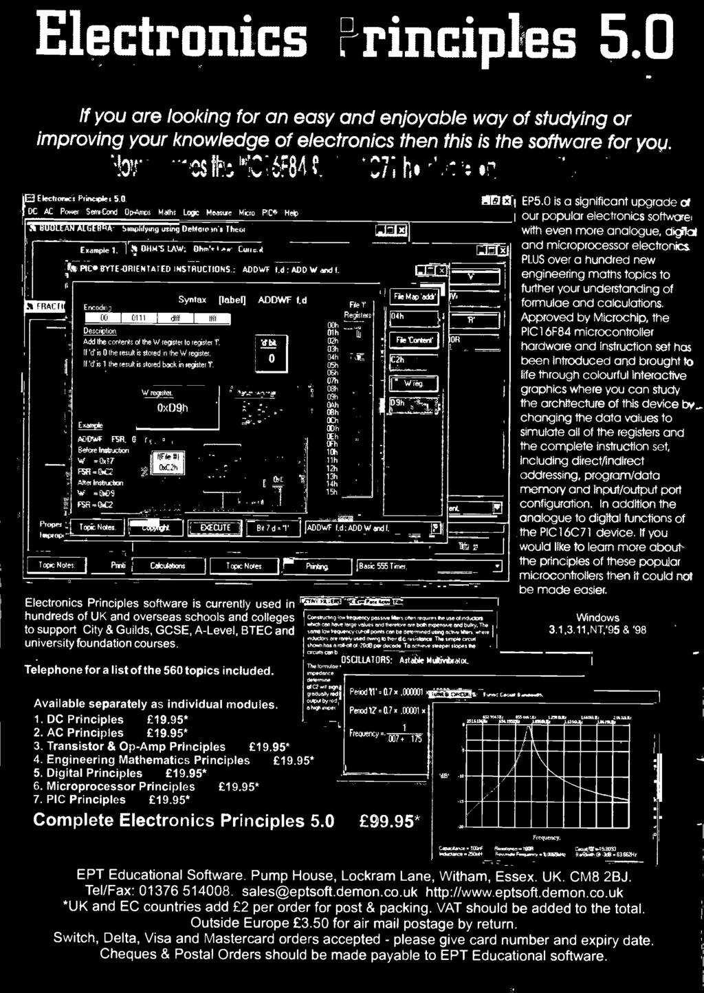 T E Airwaves Data O Electronics Plus Ionising Radiation And Led Using 555 Http Www Circuitdiagram Org Fading Pulsing F Principles Software Is Currently Used In Hundreds Of Uk Overseas