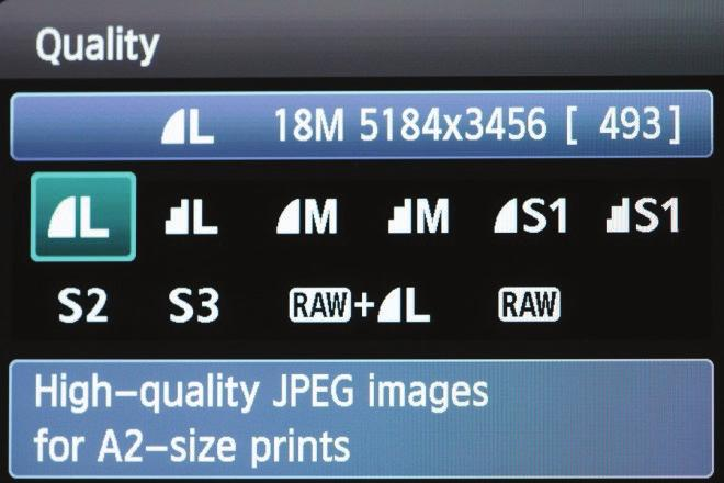 Quality Settings Quality settings affect the file type, image quality and image size of your photos. By default the camera produces JPEG files.