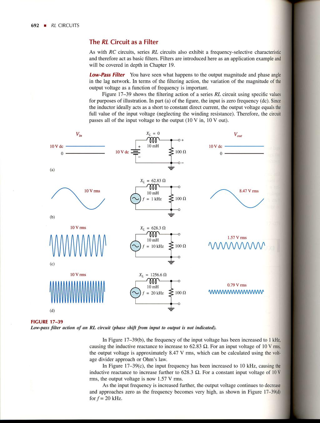 Rl Circuits R Introduction Part 1 Pdf Dc Rc Circuit 692 The As A Filter With