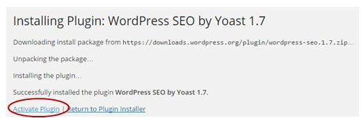 You can search for plugins such as the ones above using their name typed into the search bar. For example: SEO by Yoast.