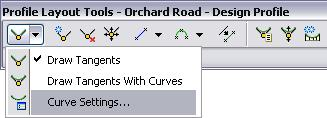 AutoCAD Civil 3D 2009 Education Curriculum NOTES Parabolic curves are most commonly used for vertical road curves, but you can modify this setting.