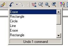 UNDO and REDO The UNDO command allows you to undo previous commands. For example, if you erase an object by mistake, you can UNDO the previous erase command and the object will reappear.