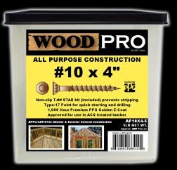 Golden WoodPro Fasteners AP12X638-50 T25 All Purpose Wood Construction Screws 12 x 6-3//8 12 x 6-3//8 American Fastening Systems