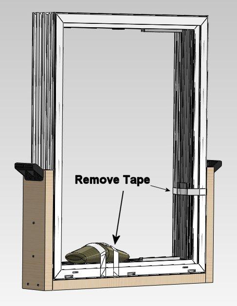 !! Before removing the existing door, measure the new door making sure it will fit properly into the rough opening.