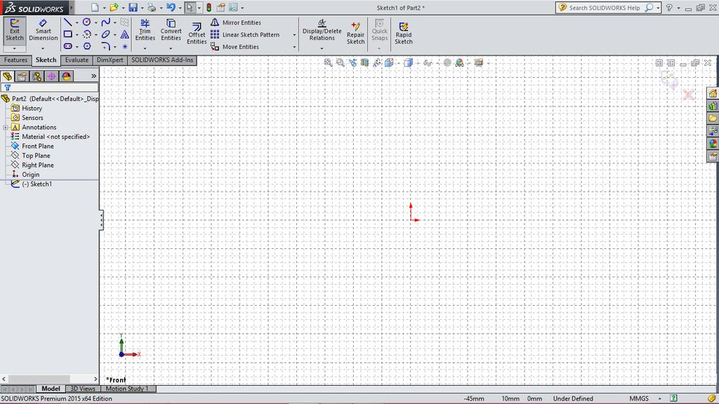 2.20 Chapter 2 > Drawing Sketches with SOLIDWORKS Tip: The value entered in the Major grid spacing field defines the distance between two major grid lines in the drawing area and the value entered in