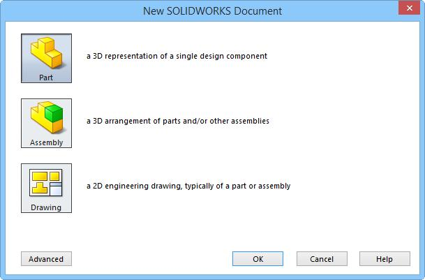 SOLIDWORKS 2015: A Power Guide > 2.3 Note: 2.4 If you are invoking the New SOLIDWORKS Document dialog box first time after installing the software, the Units and Dimension Standard dialog box appears.