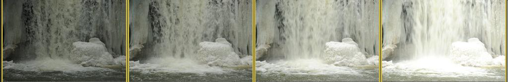 The third image is 1 stop brighter and the histogram is properly exposed to the right. The first image is 1 stop less; although dark the histogram is barely clipped.