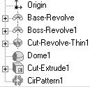 110)Edit the Pattern feature. Right-click on the Circular Pattern from the Feature Manager. Click Edit Definition. Enter 8 in the Total instances spin box. Display the updated Pattern. Click OK.