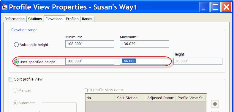 select Profile View Properties. 2.