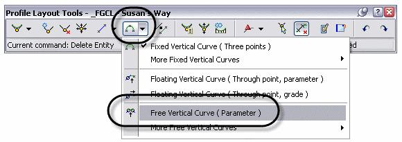 AutoCAD Civil 3D 2009 Essentials Task 3 - Adjust the Vertical Alignment though the grips. 1. Select the profile you just drew and notice the grips that appear.