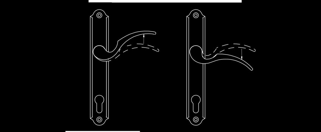 To lock, lift the handle to engage the multi-points before engaging the deadbolt. Use the key or the thumbturn to engage the deadbolt after the multi-points are engaged.