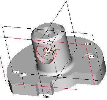 112 Figure 4.2(a) Sketched Holes (CADTRAIN, COAch for Pro/E) Rounds Figure 4.2(b) Hole Placement (CADTRAIN) Rounds (Fig. 4.3) are created at selected edges of the part.
